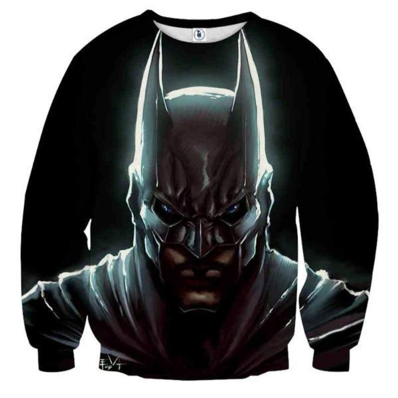 Batman Pure Black 3D Printed Batman Sweatshirt