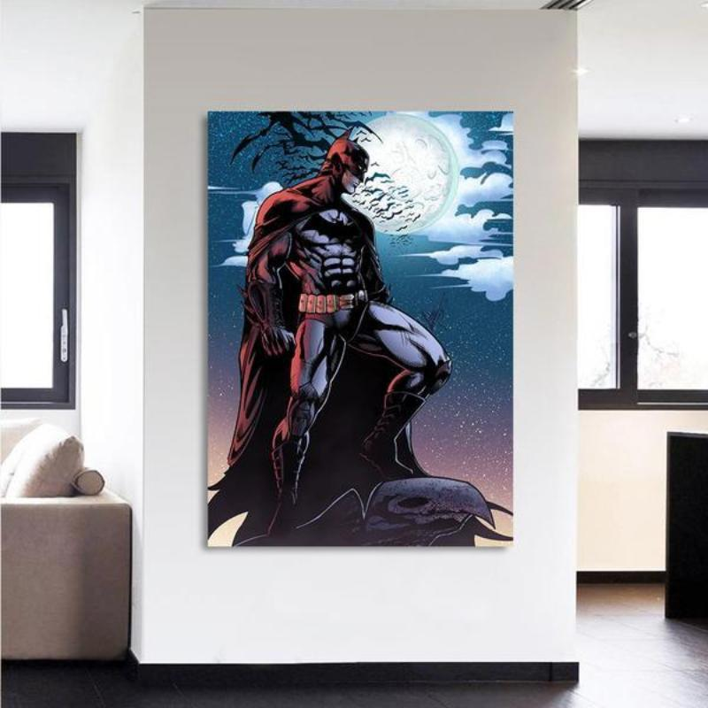 Batman Canvas Rise 3D Printed Framed Canvas