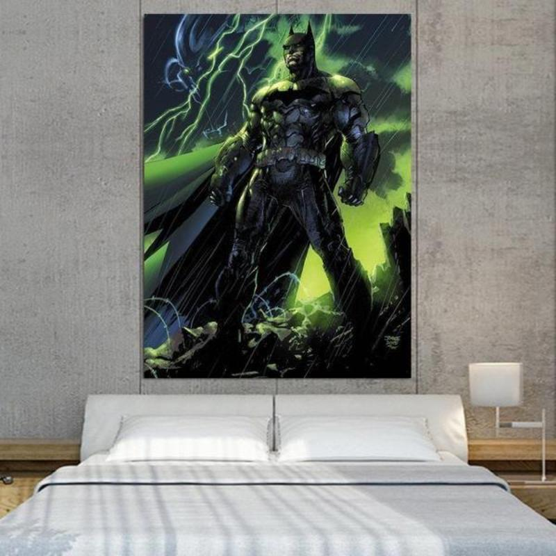 Batman Canvas Rise Again 3D Printed Framed Canvas