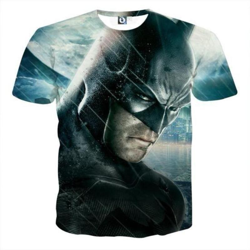 Batman Serious Look 3D Printed Batman T-shirt