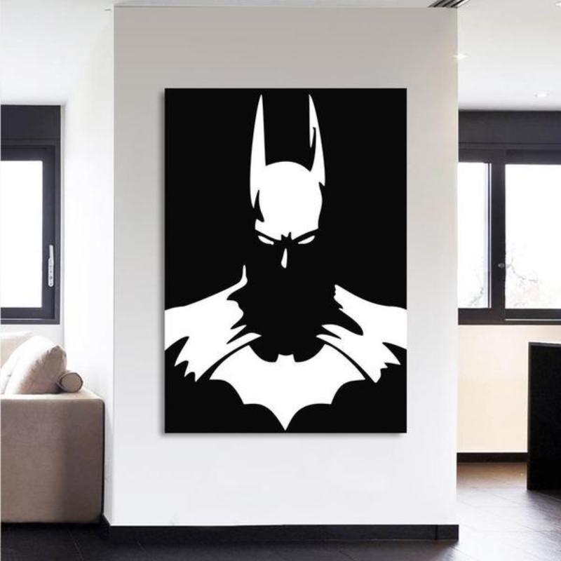 Batman Shadow 3D Printed Batman Framed Canvas