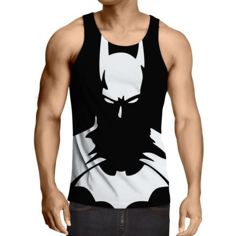 Batman Shadow 3D Printed Batman Tank Top