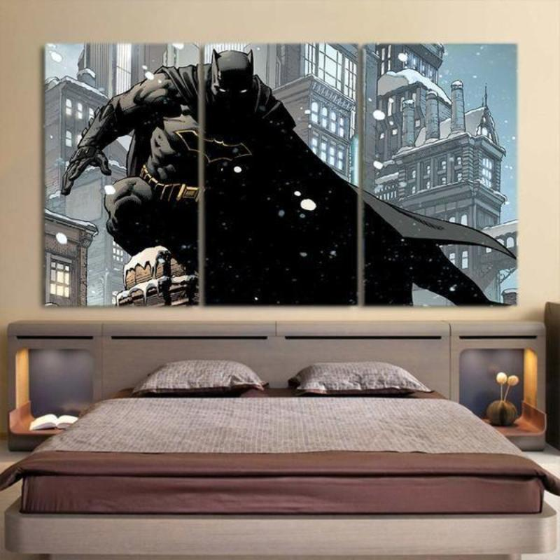 Batman Canvas Stealth 3D Printed Framed Canvas