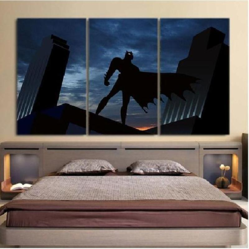 Batman Canvas The Night Screams 3D Printed Framed Canvas