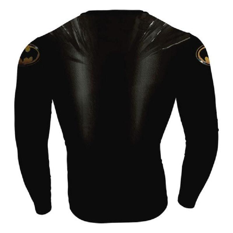 Batman Titanium 3D Printed Batman Long Sleeve Shirt