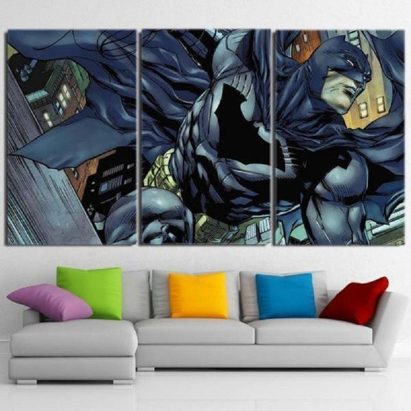 Batman Canvas To The Rescue 3D Printed Framed Canvas
