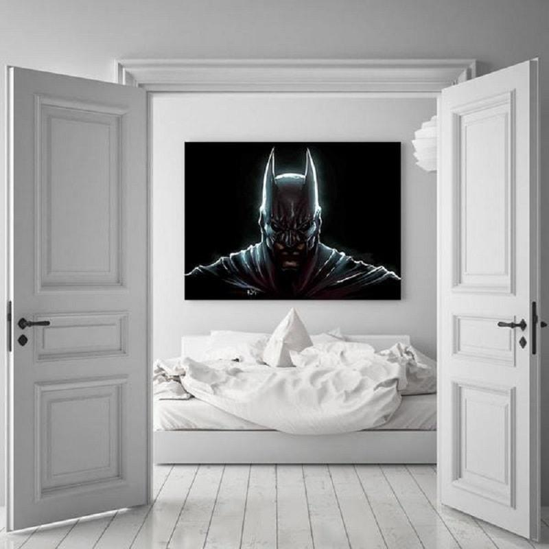 Batman Canvas Ultra 3D Printed Batman Framed Canvas
