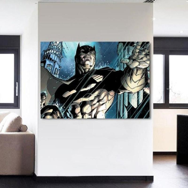 Batman Canvas Unique 3D Printed Batman Framed Canvas