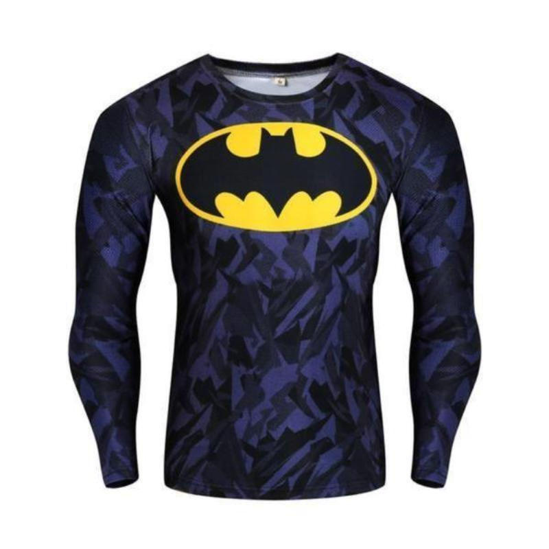 Batman Yellow Logo 3D Printed Batman Long Sleeve Shirt