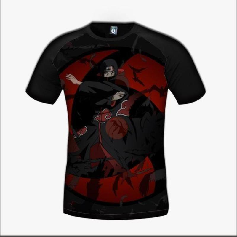 Black 3D Printed  Sharingan Itachi T Shirt
