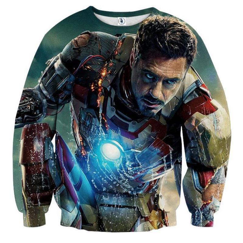 Black & Blue 3D Printed Iron Man Sweatshirt