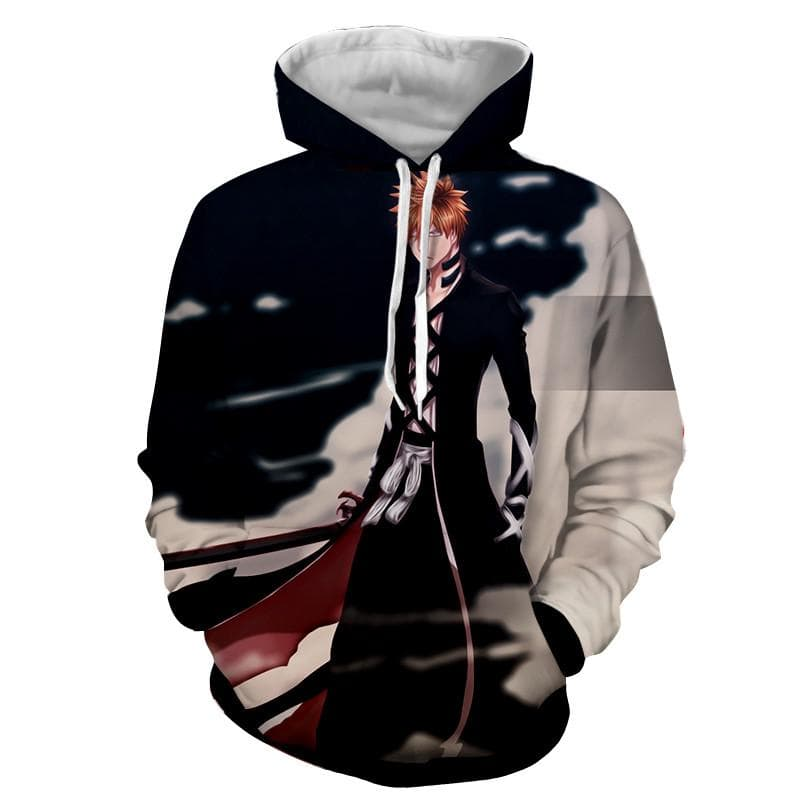 Black Ichigo Bleach 3D Printed Bleach Anime Hoodie