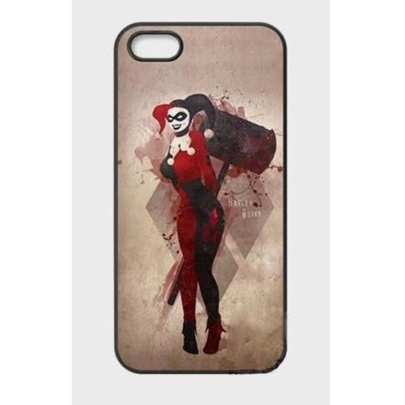 Black & Red Harley Quinn Mobile Case For iPhone