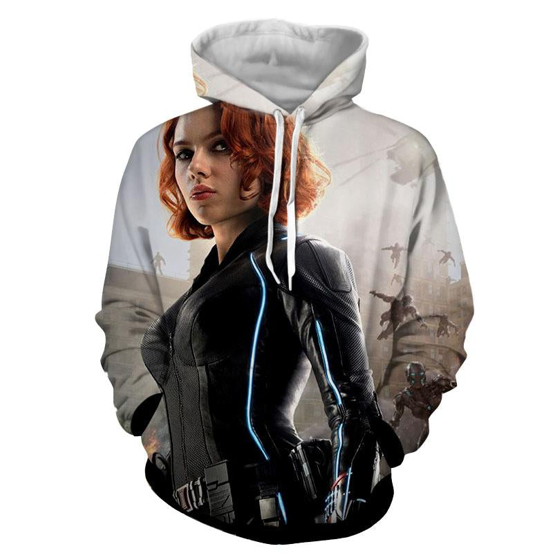 Black Widow Cool 3D Printed Black Widow Hoodie