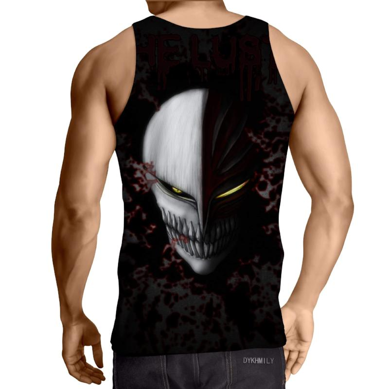 Bleach Black Hollow Mask 3D Printed Bleach Anime Tank Top