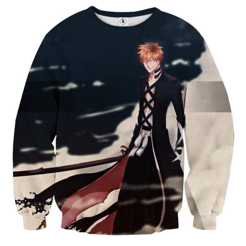 Bleach Black Ichigo 3D Printed Anime Sweatshirts