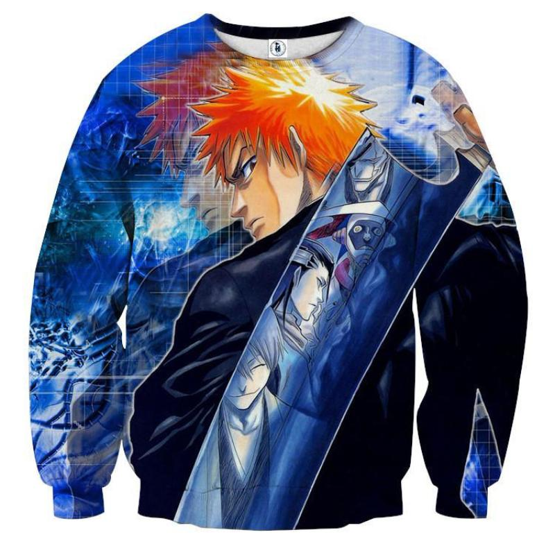 Bleach Blue Zampaktu 3D Printed Anime Sweatshirts