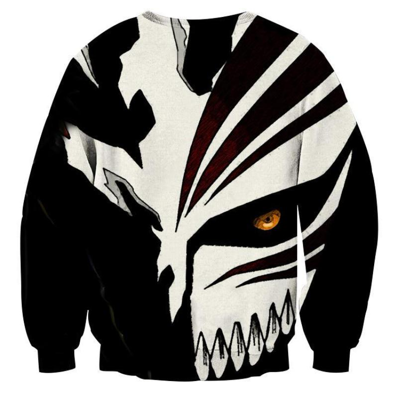 Bleach Cool-Hollow Mask 3D Printed Sweatshirt
