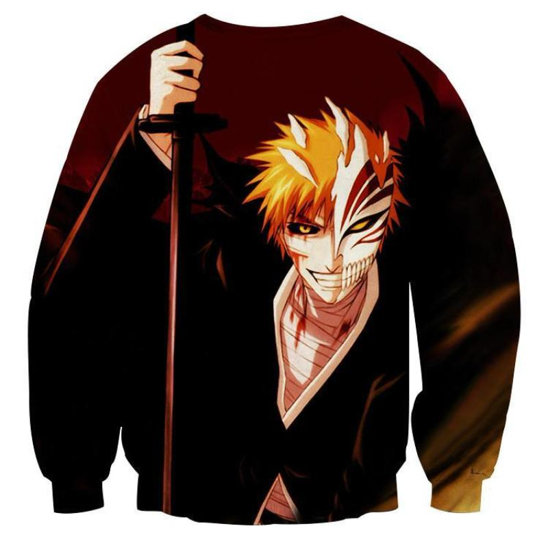 Bleach Cool Hollow Ichigo 3D Printed Anime Sweatshirts