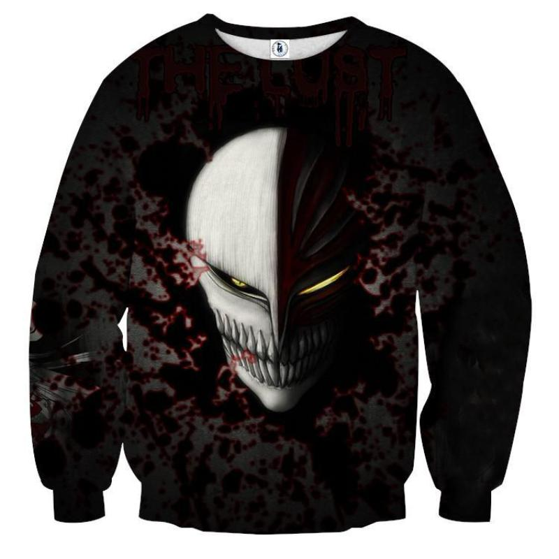 Bleach Cool Hollow Mask 3D Printed Sweatshirt