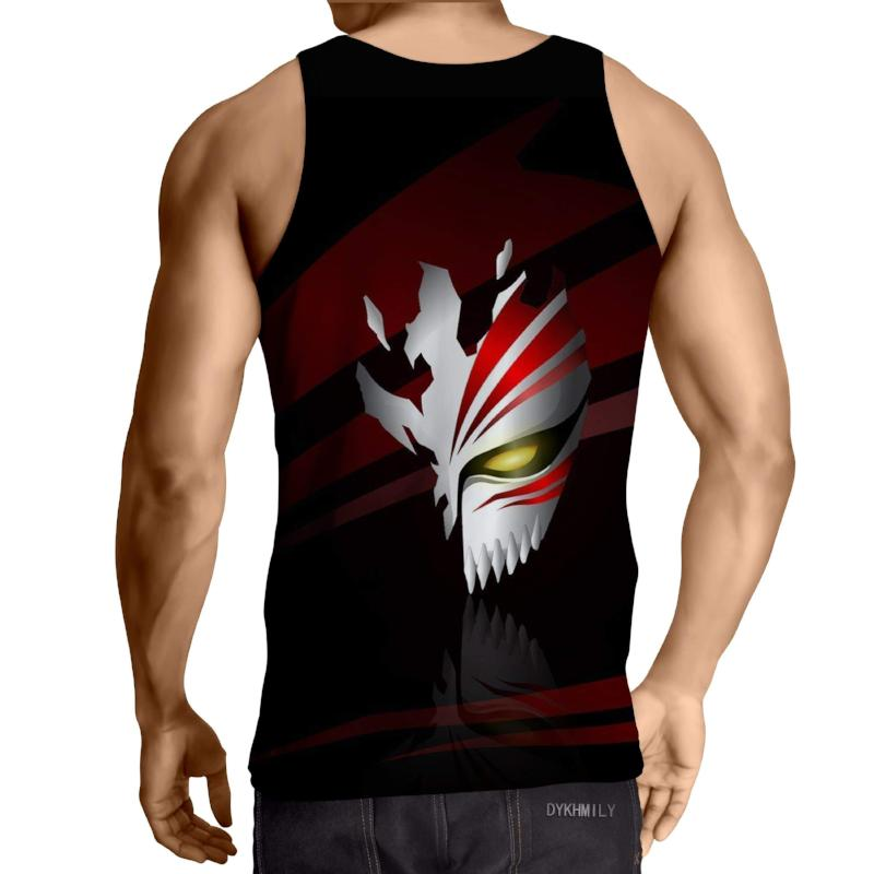 Bleach Cool Mask 3D Printed Bleach Anime Tank Top