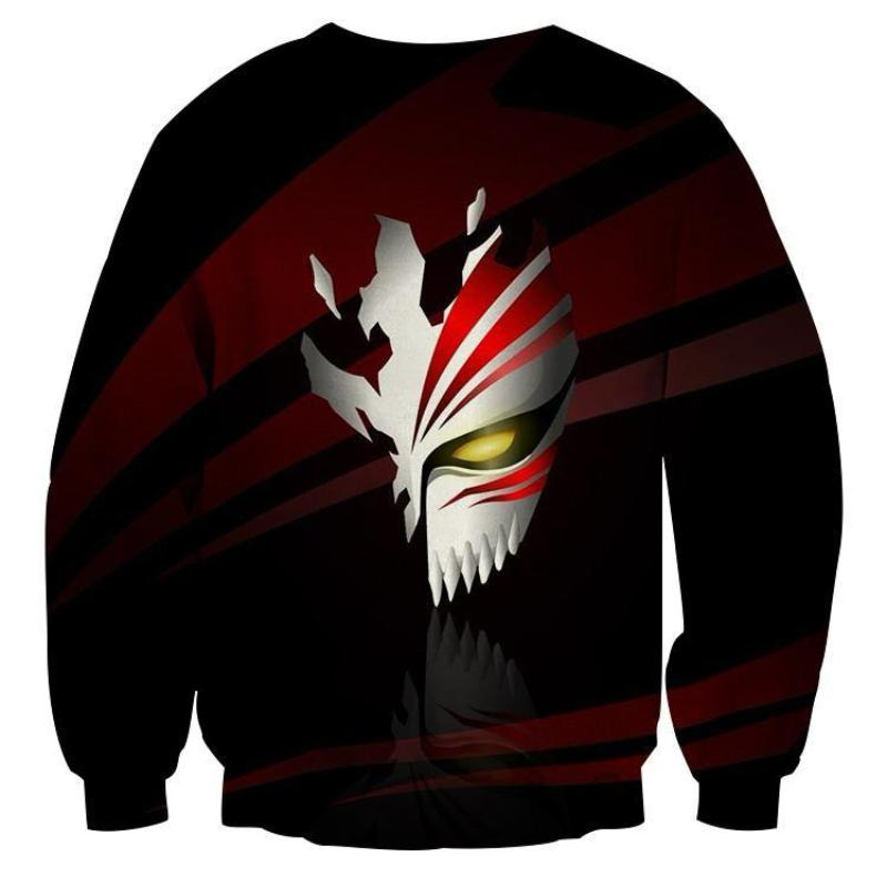 Bleach Half Hollow Mask 3D Printed Anime Sweatshirts