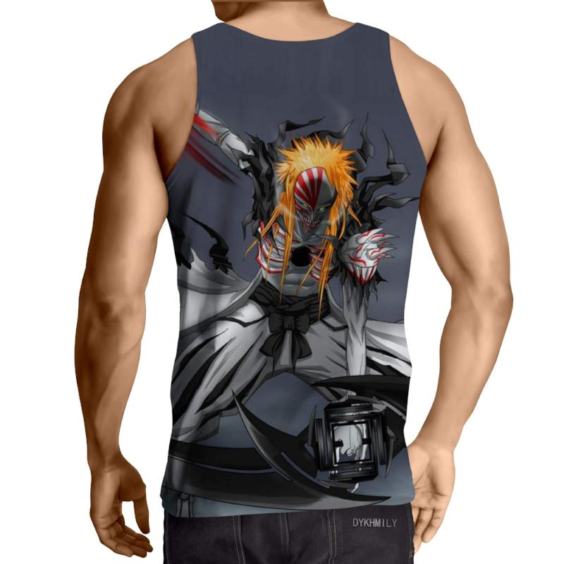 Bleach Hollow Form Ichigo Gray 3D Printed Bleach Anime Tank Top