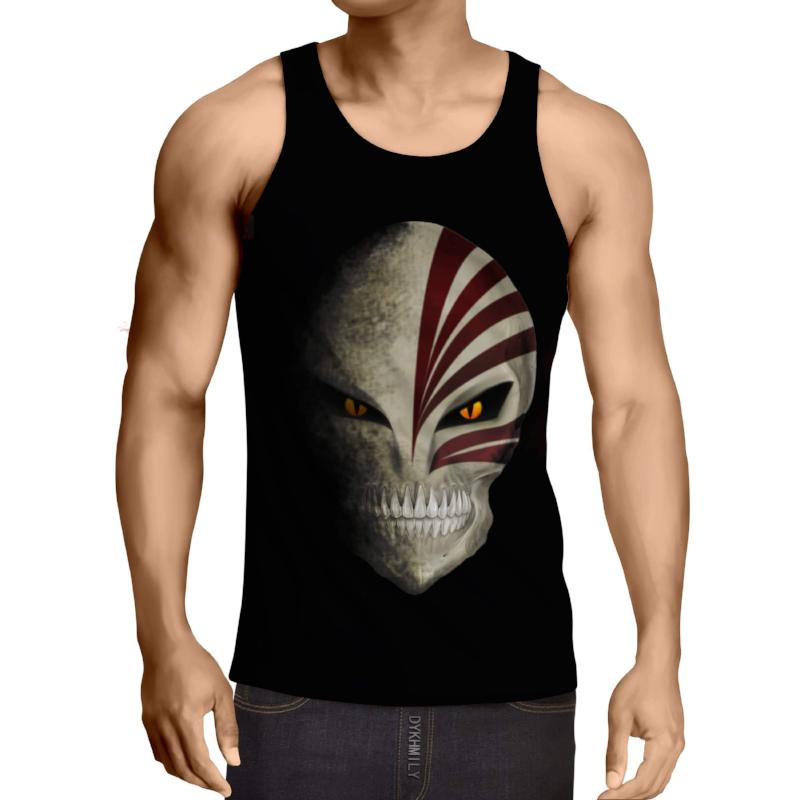Bleach Hollow Mask 3D Printed Bleach Anime Tank Top