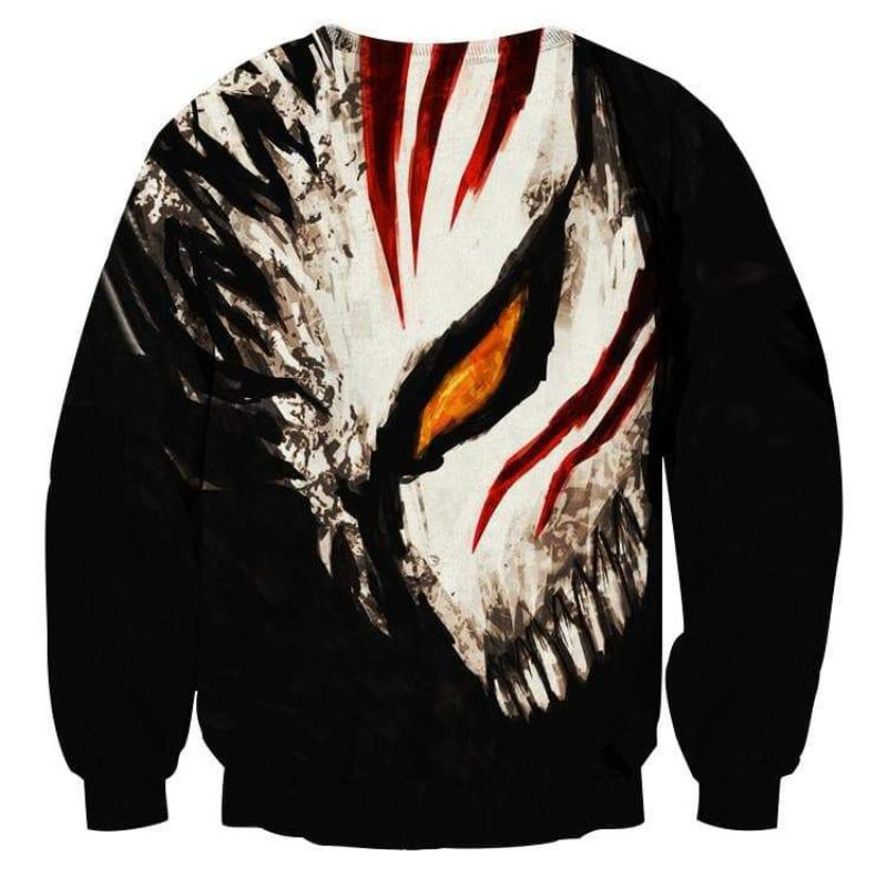 Bleach Hollow Mask Cool 3D Printed Anime Sweatshirts