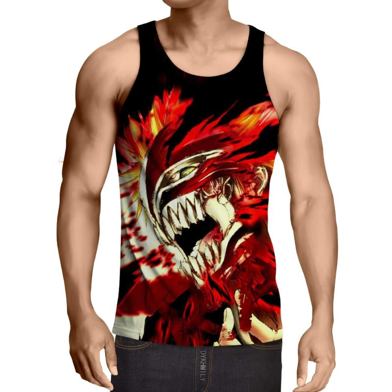 Bleach Hollow Mask Ichigo 3D Printed Bleach Anime Tank Top