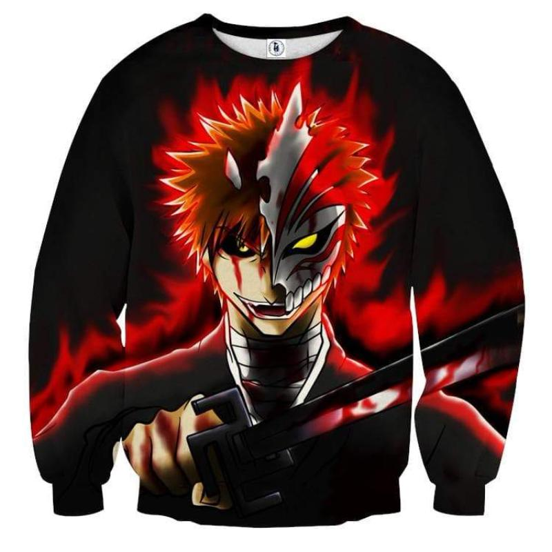 Bleach Ichigo Formation 3D Printed Anime Sweatshirts