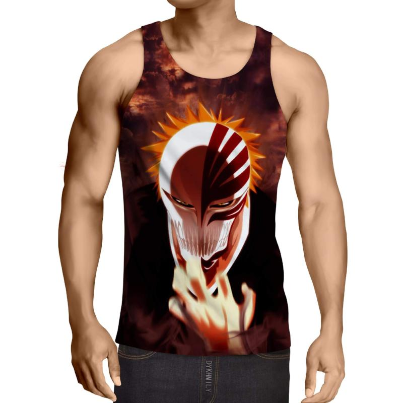 Bleach Ichigo Hollow 3D Printed Bleach Anime Tank Top