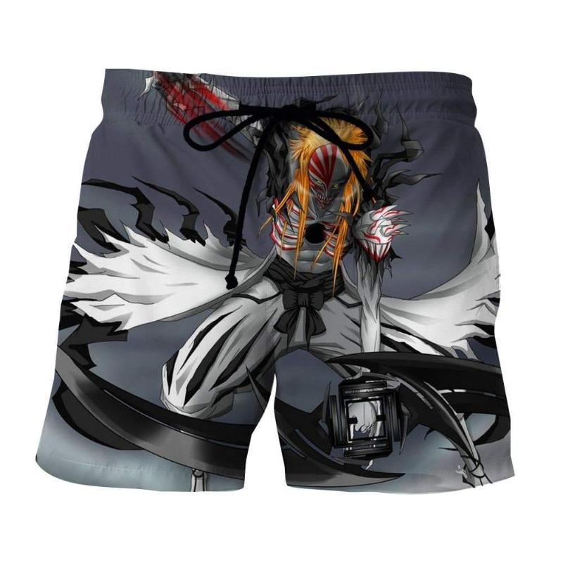 Bleach Ichigo Hollow Form 3D Printed Polyester Shorts