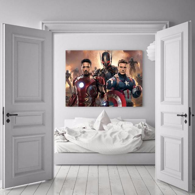 3D Printed Avengers Captain America Canvas