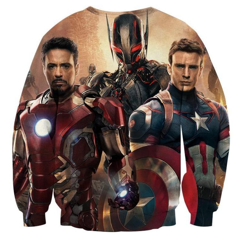 3D Printed Ultron Iron Man & Captain America Sweatshirt
