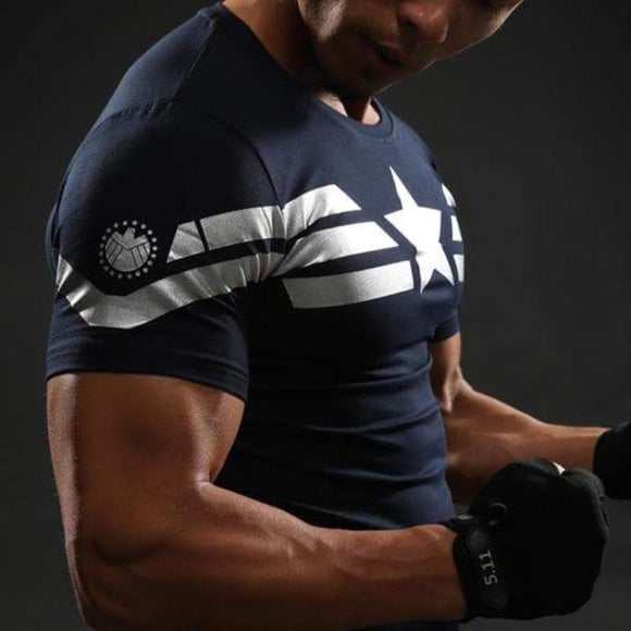 Captain America Tee: 3D Printed Modern Captain America T-Shirts