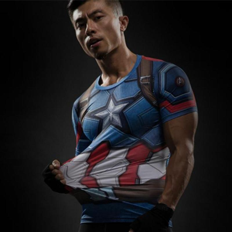 Captain America Tee: 3D Printed Shield Captain America T-Shirts