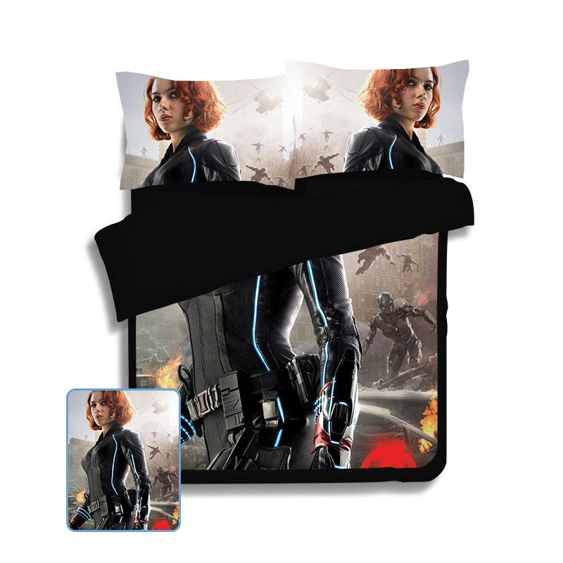 Avengers Cool Black Widow Bedding