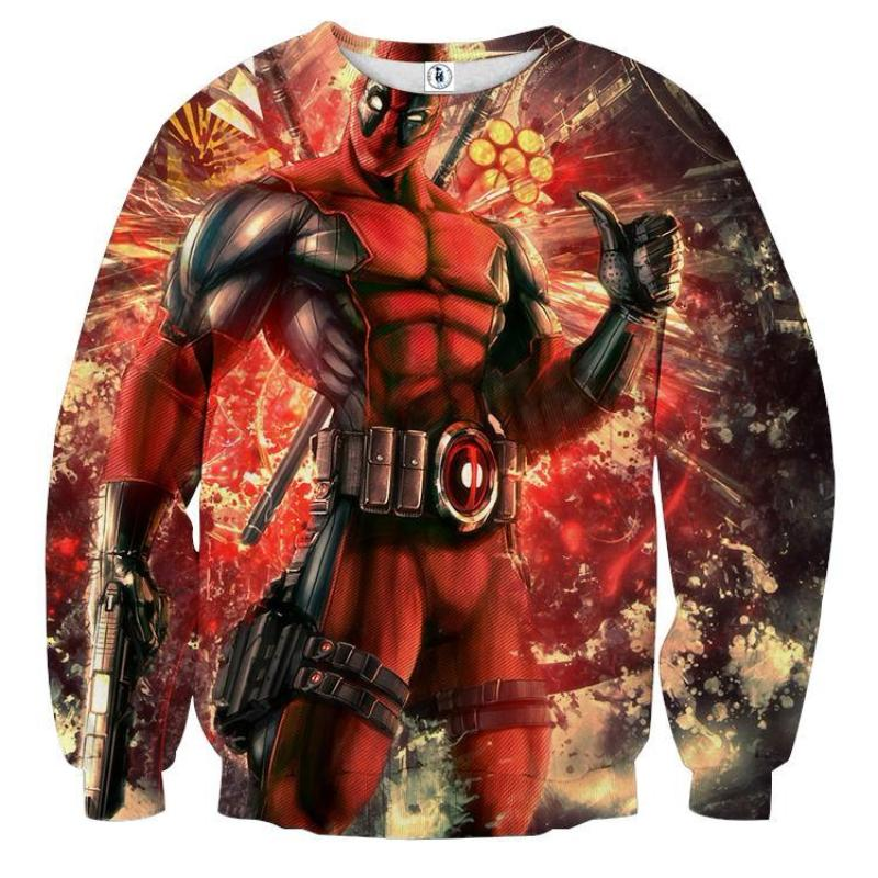 3D Printed Deadpool Sweatshirt