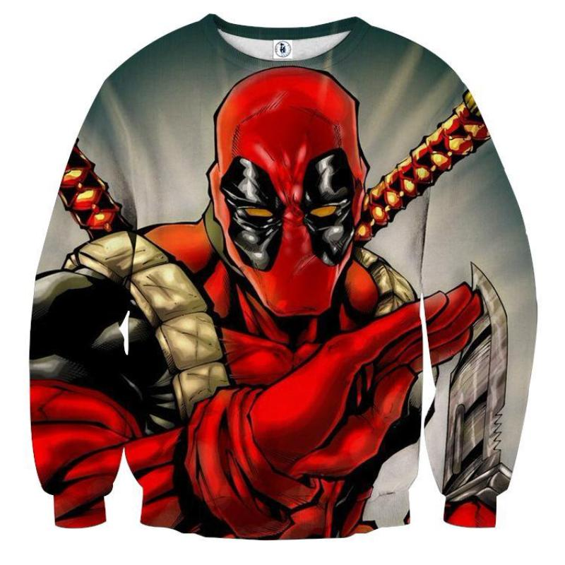 Bad-ass Deadpool  3D Printed Sweatshirt