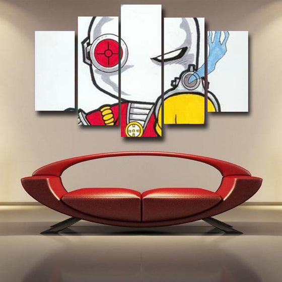 Deadshot Canvas Wall Art Print White & Red
