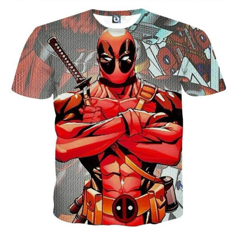 3D Printed Red Deadpool T-Shirt