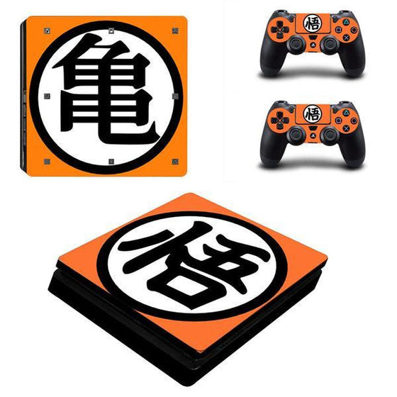 Son Goku Dragon Ball Z PS4 Sticker For Console And 2 Controller