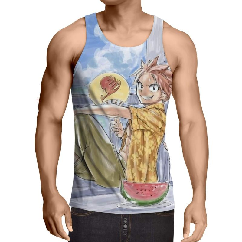Drawing Natsu  Fairy Tail 3D Printed Fairy Tail Tank Top