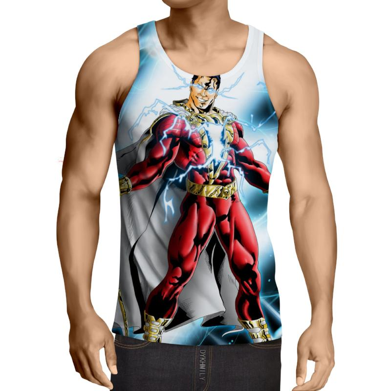 Shazam Electrifying 3D Printed Shazam Tank Top