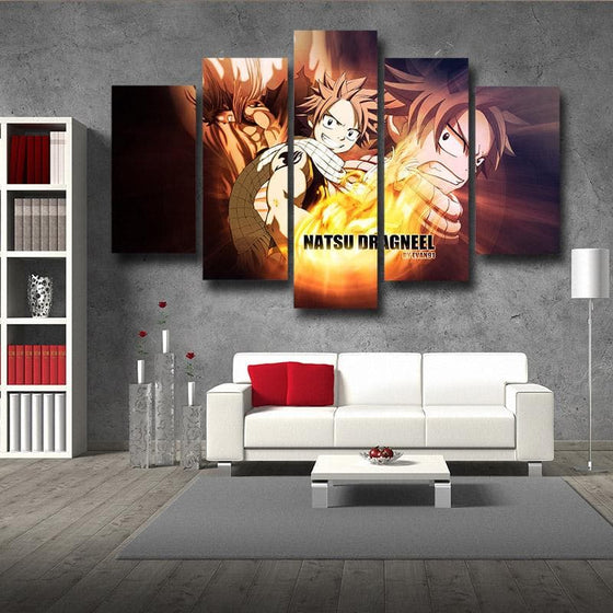 Fairy Tail Dragneel Natsu  Canvas