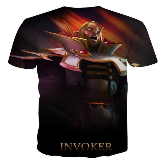 Invoker Black Cool Art Style 3D printed Invoker T-Shirt
