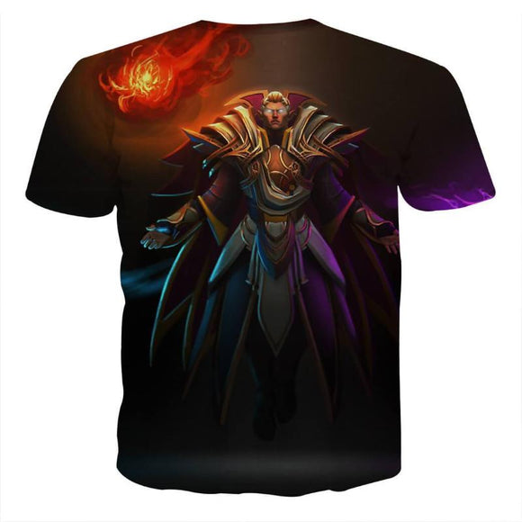 Invoker Red-Black Cool Art Style 3D Printed Invoker T-Shirt
