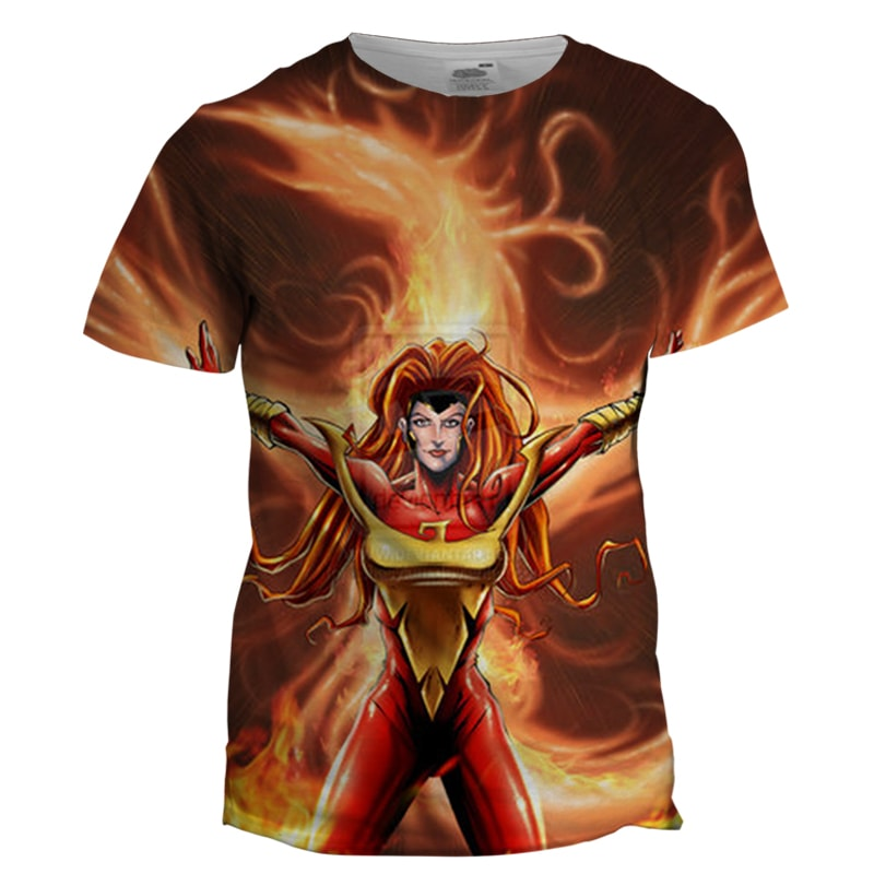 Jean Grey 3D Printed T Shirt