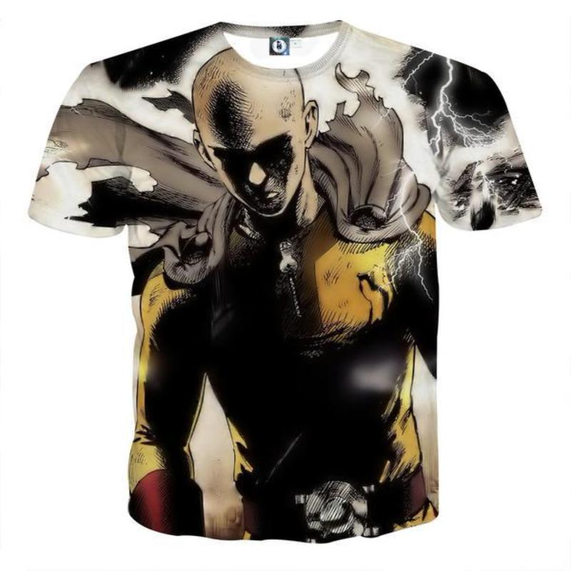 One Punch Man Armour Saitama 3D Printed One Punch Man T Shirt